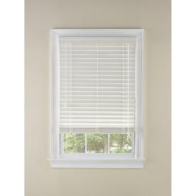 LEVOLOR 2-in White Room Darkening Faux Wood Blinds (Common: 31-in; Actual: 30.5-in x 64-in)