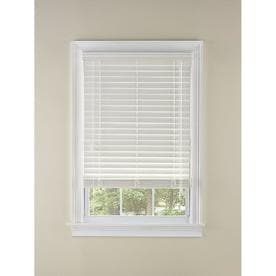 LEVOLOR 2-in White Faux Wood Blinds (Common: 31-in; Actual: 30.5-in x 64-in)