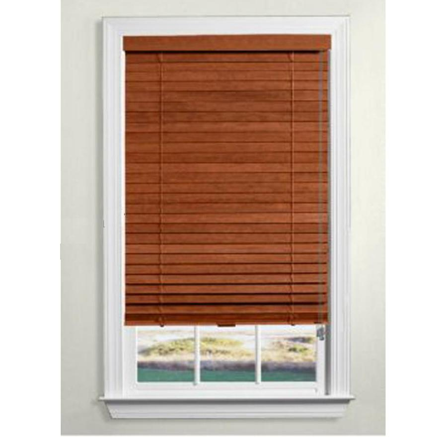 Custom Size Now By Levolor 2 In Rustic Oak Wood Room Darkening Plantation  Blinds (