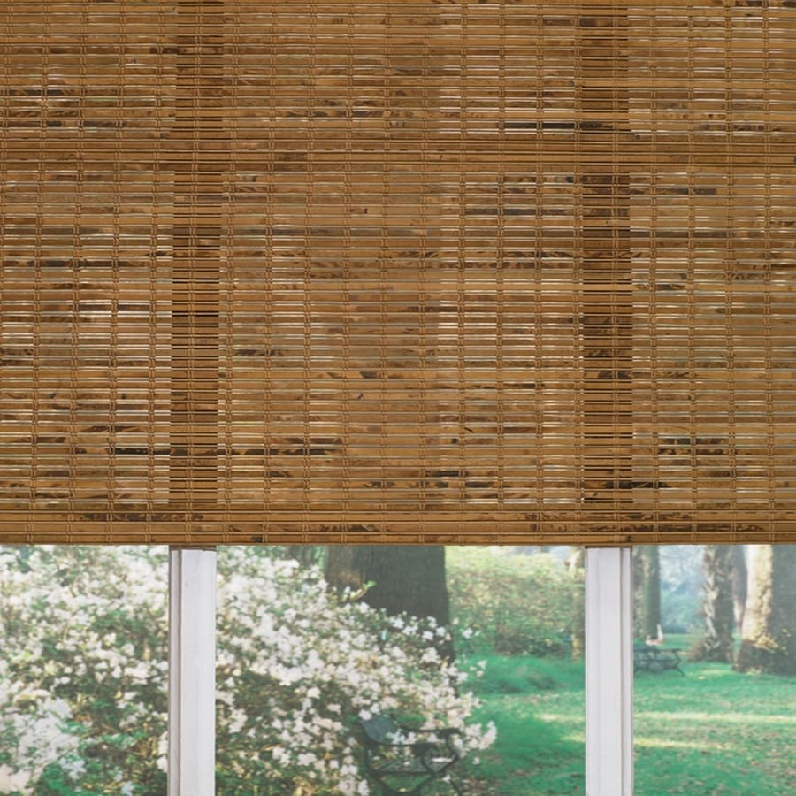Custom Size Now by Levolor Origami Light Filtering Bamboo Natural Roman Shade (Common 60-in; Actual: 59.5-in x 60-in)