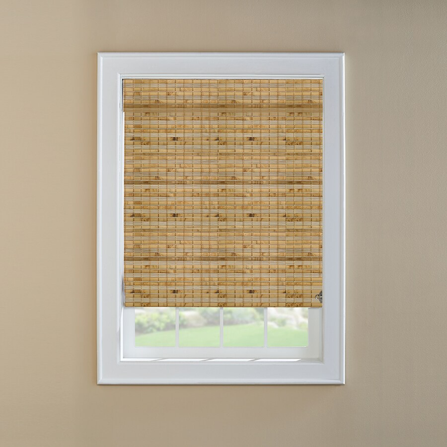 Custom Size Now by Levolor Natural Bamboo Light Filtering Woven Wood Natural Roman Shade (Common 72-in; Actual: 71.5-in x 60-in)