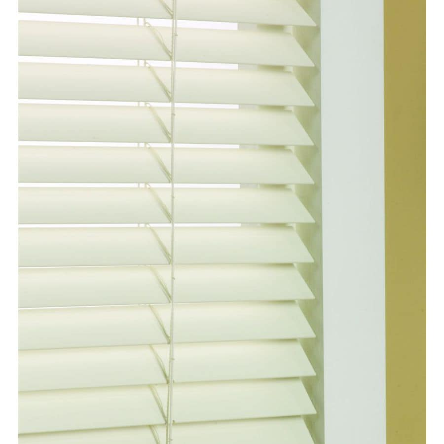 lowes faux wood blinds Shop Custom Size Now by Levolor 1.5 in Dover Faux Wood Room  lowes faux wood blinds