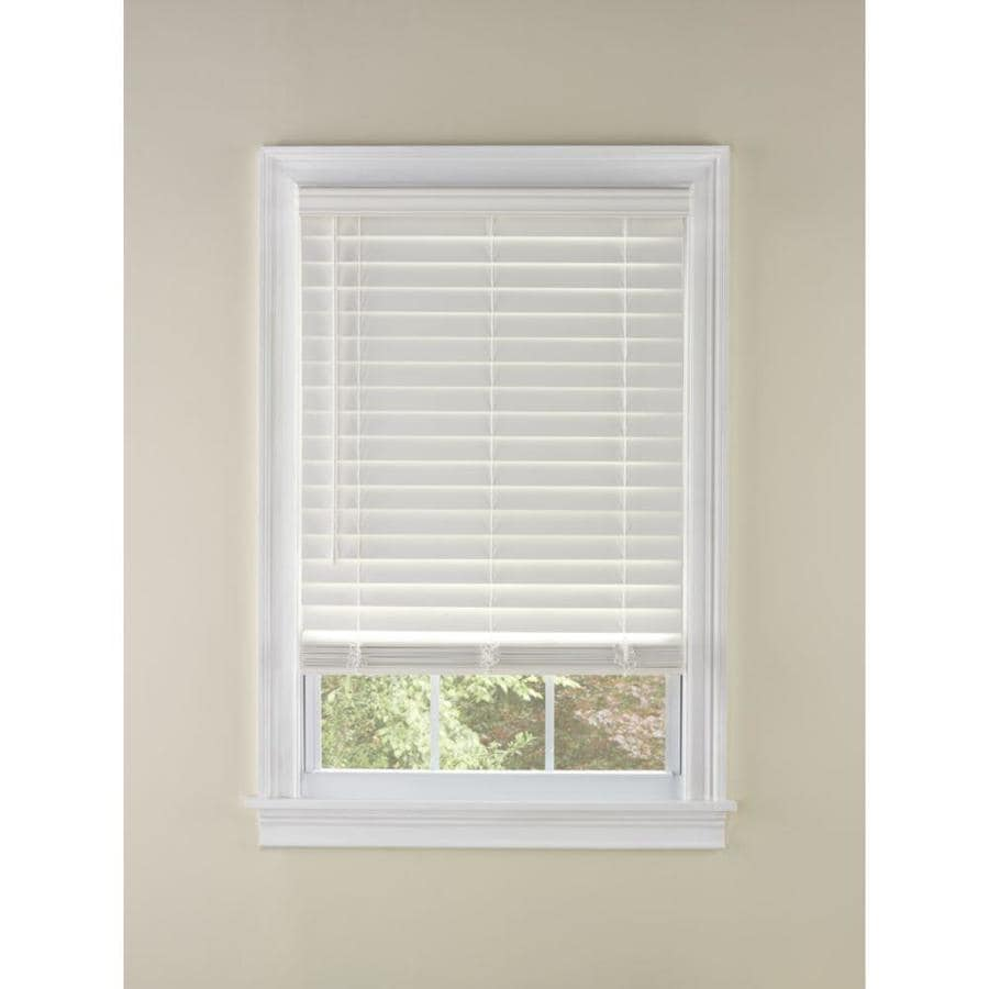 Custom Size Now by Levolor 2-in Cordless White Faux Wood Room Darkening Plantation Blinds (Common 27-in; Actual: 26.5-in x 54-in)
