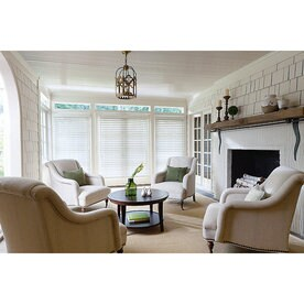 Levolor 2 In Cordless White Faux Wood Blinds Common 72