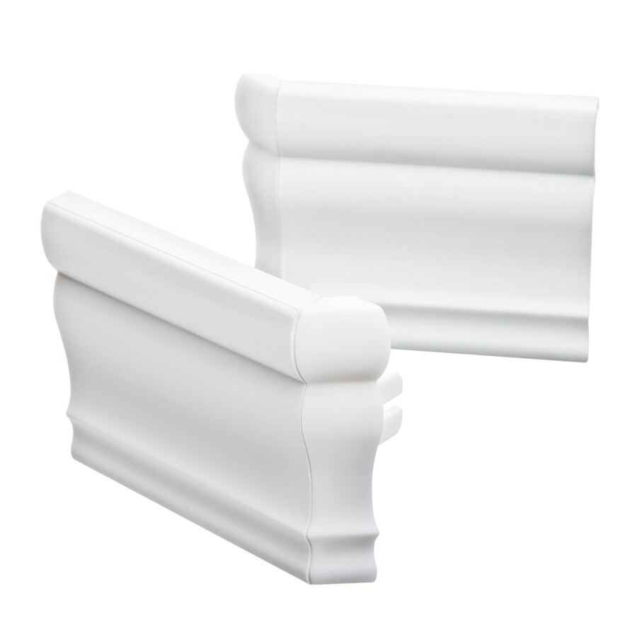 Custom Size Now by Levolor 2-Piece White Plastic Valance Returns