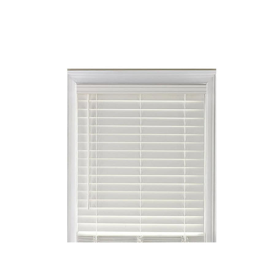 Custom Size Now by Levolor 2-in White Faux Wood Room Darkening Plantation Blinds (Common 47-in; Actual: 44.5-in x 64-in)