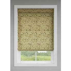 bamboo window blinds diy levolor natural light filtering cordless bamboo shade common 24in 64 window shades at lowescom