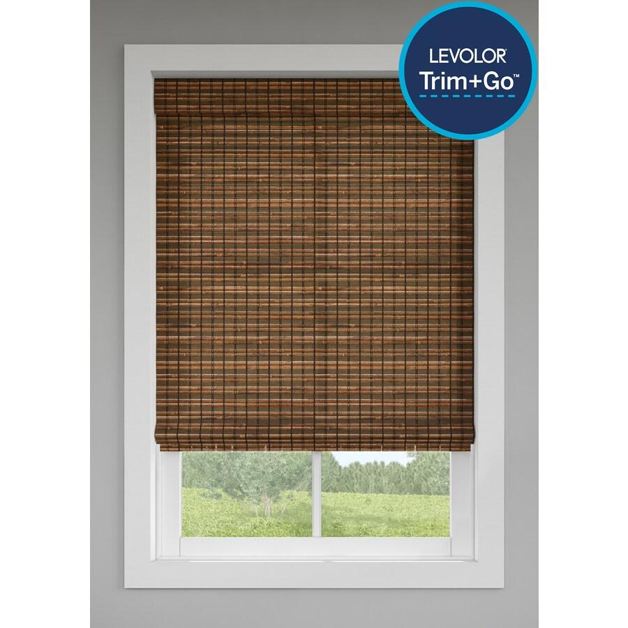 Levolor Cinnamon Light Filtering Cordless Bamboo Natural