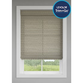 LEVOLOR Grey Stone Light Filtering Cordless Natural Shade (Actual: 35.5-in x 64-in)