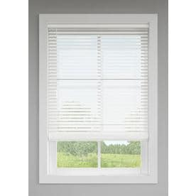 LEVOLOR 2-in Cordless White Room Darkening Faux Wood Blinds (Common: 23-in; Actual: 22.5-in x 64-in)