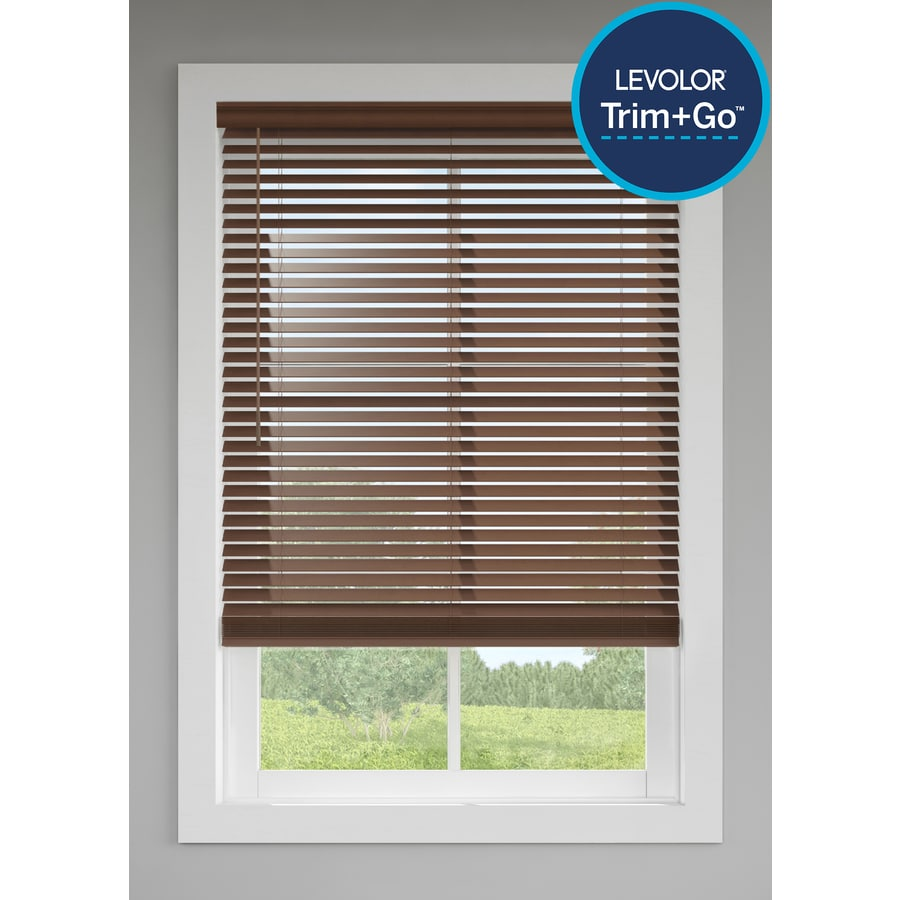 Levolor 2 In Cordless Walnut Faux Wood Blinds Common 52