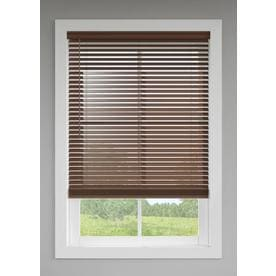 Levolor 2 In Cordless Walnut Faux Wood Blinds Common 72