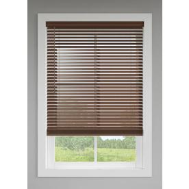 LEVOLOR 2-in Cordless Walnut Faux Wood Blinds (Common: 72-in; Actual: 71.5-in x 64-in)