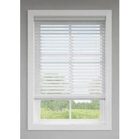 72 inch wide blinds vinyl levolor 25in cordless gray faux wood blinds common 35in wood at lowescom