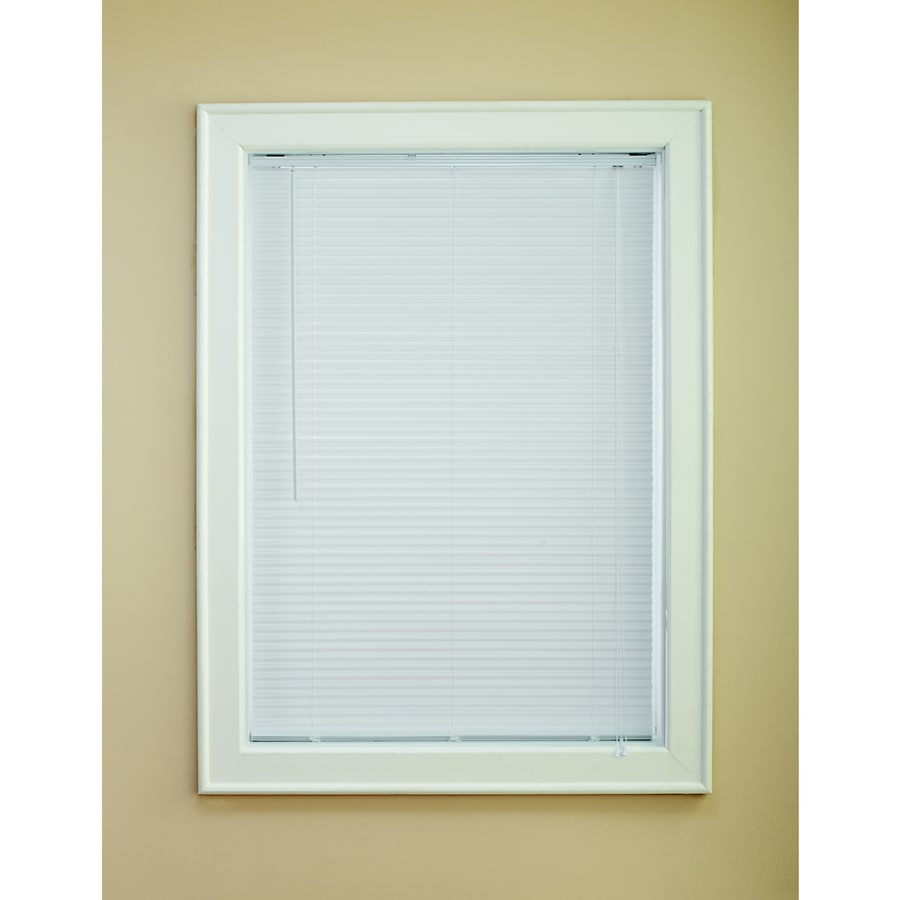 Levolor 1-in White Vinyl Room Darkening Mini-blinds (Common: 27-in; Actual: 26.5-in x 64-in)