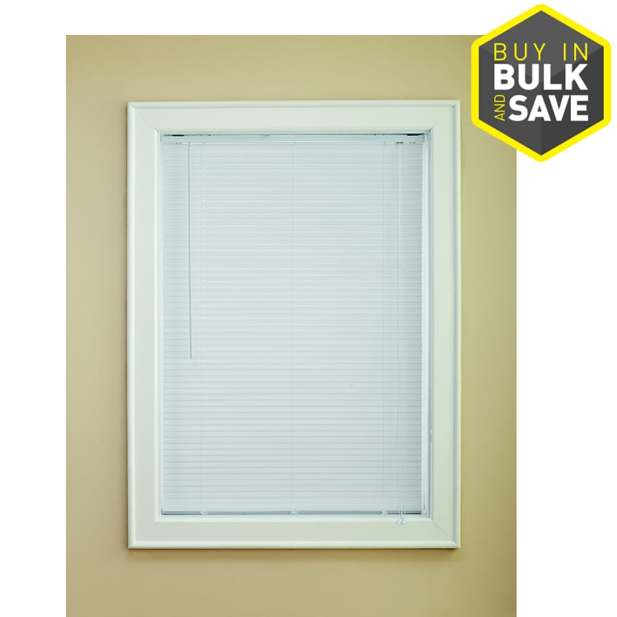 Levolor 1-in White Vinyl Room Darkening Mini-blinds (Common: 35-in; Actual: 34.5-in x 72-in)