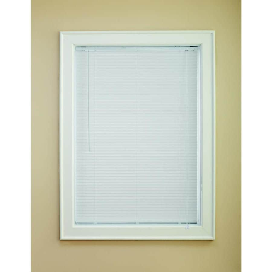 Custom Size Now by Levolor 1-in White Vinyl Room Darkening Mini-Blinds (Common 72-in; Actual: 71.5-in x 72-in)
