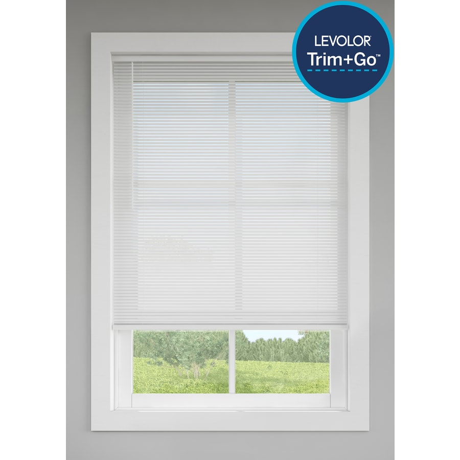 levolor 1 in cordless white vinyl mini blinds common 72 in actual 71 5 in x 72 in at. Black Bedroom Furniture Sets. Home Design Ideas