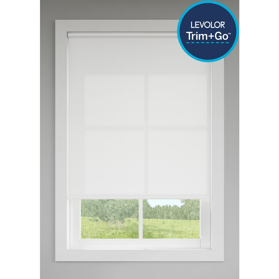 Levolor White Light Filtering Cordless Vinyl Roller Shade