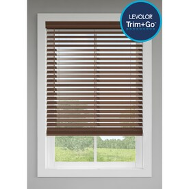 LEVOLOR 2.5-in Cordless Walnut Room Darkening Faux Wood Blinds (Common: 31-in; Actual: 30.5-in x 72-in)