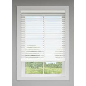 LEVOLOR 2.5-in Cordless White Room Darkening Faux Wood Blinds (Common: 72-in; Actual: 71.5-in x 64-in)