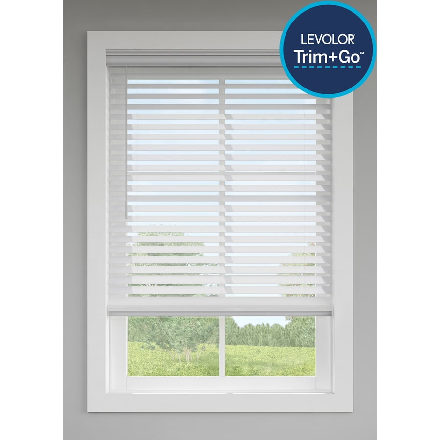 Levolor 2 5 In Cordless Gray Faux Wood