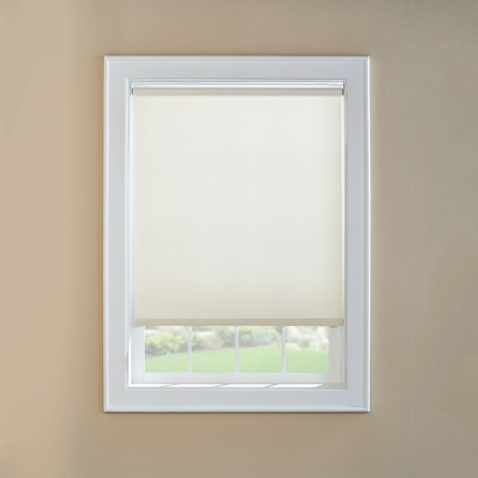 Custom Size Now By Levolor White Room Darkening Cordless Vinyl Roller Shade Common 73 In Actual 72 5 In X 78 In In The Window Shades Department At Lowes Com