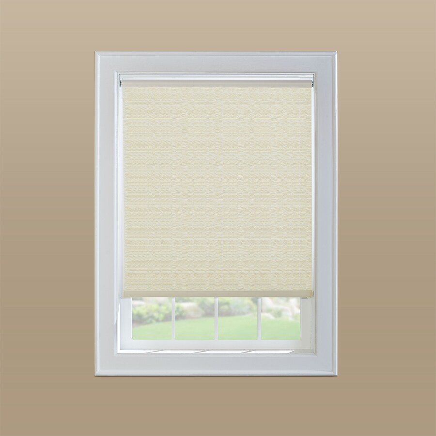 Custom Size Now by Levolor Cream Room Darkening Cordless Vinyl Roller Shade (Common 55-in; Actual: 54.5-in x 78-in)