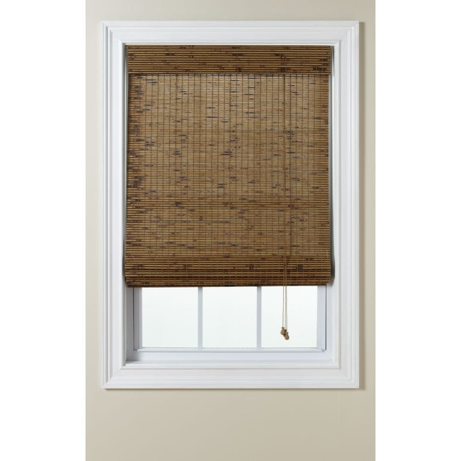 Levolor Tatami Light Filtering Woven Wood Natural Roman Shade (Common: 24-in; Actual: 23.5-in x 60-in)