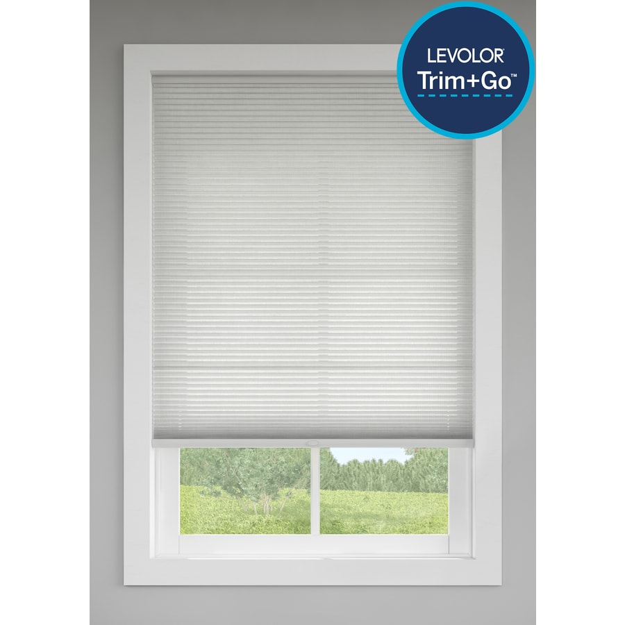 Custom Size Now by Levolor Graphite Light Filtering Cordless Polycotton Cellular Shade (Common: 24-in; Actual: 23.5-in x 72-in)