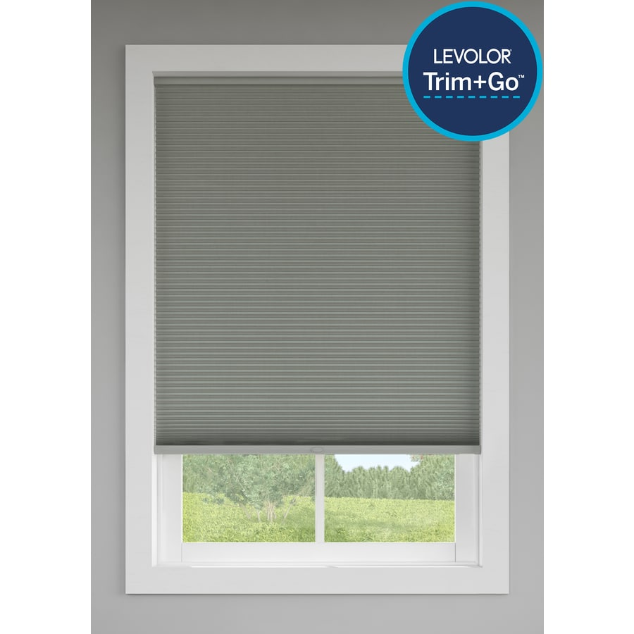 Levolor Graphite Room Darkening Cordless Polycotton Cellular Shade (Common: 72-in; Actual: 71.5-in x 72-in)