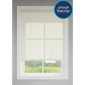 LEVOLOR Trim+Go Cream Linen Light Filtering Cordless Indoor Roller Shade (Actual: 37-in x 72-in)