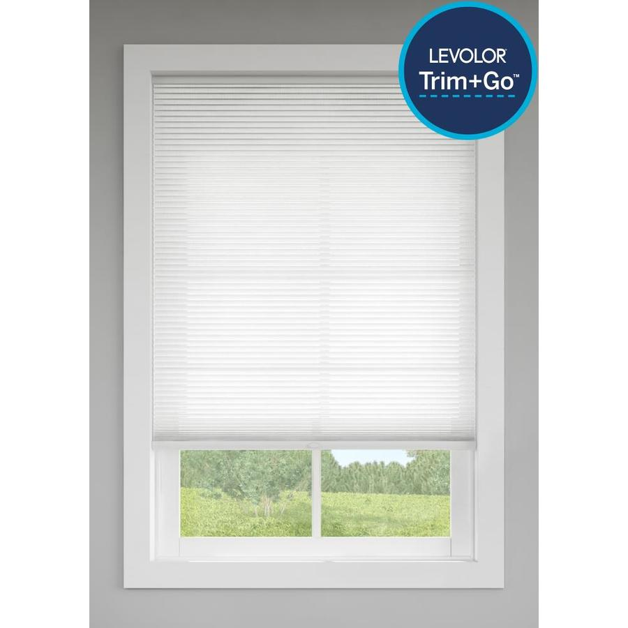 Levolor Snow Light Filtering Cordless Polycotton Cellular Shade (Common: 48-in; Actual: 47.5-in x 72-in)