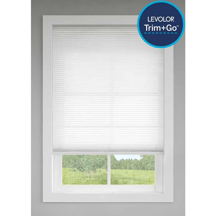 Levolor Snow Light Filtering Cordless Polycotton Cellular Shade (Common 60.0-in; Actual: 55.5-in x 72.0-in)