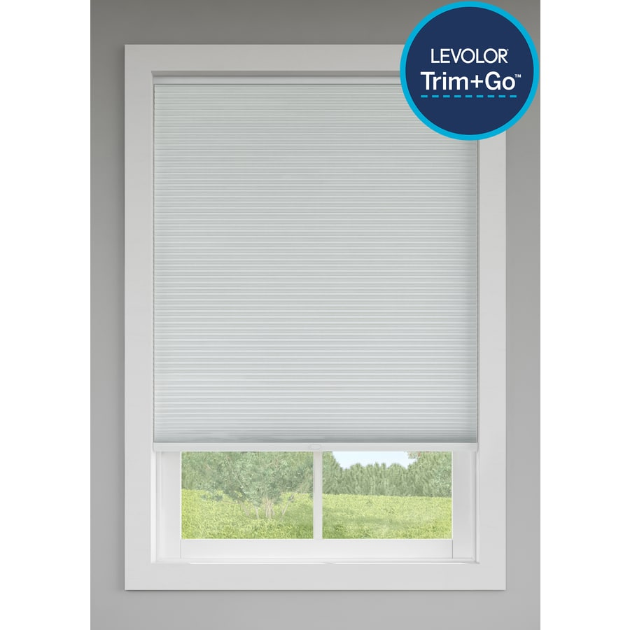 levolor snow room darkening cordless polycotton cellular shade common 24 in actual - Levolor Cellular Shades