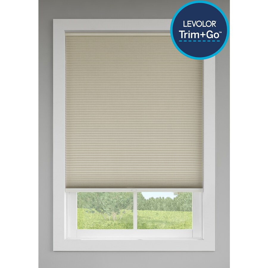 Custom Size Now by Levolor Sand Room Darkening Cordless Cellular Shade (Common 60-in; Actual: 59.5-in x 72-in)