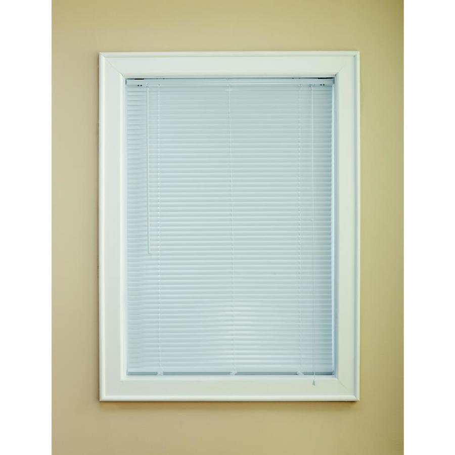 Levolor 1.0-in White Aluminum Room Darkening Mini-Blinds (Common 23.0-in; Actual: 22.5-in x 72.0-in)