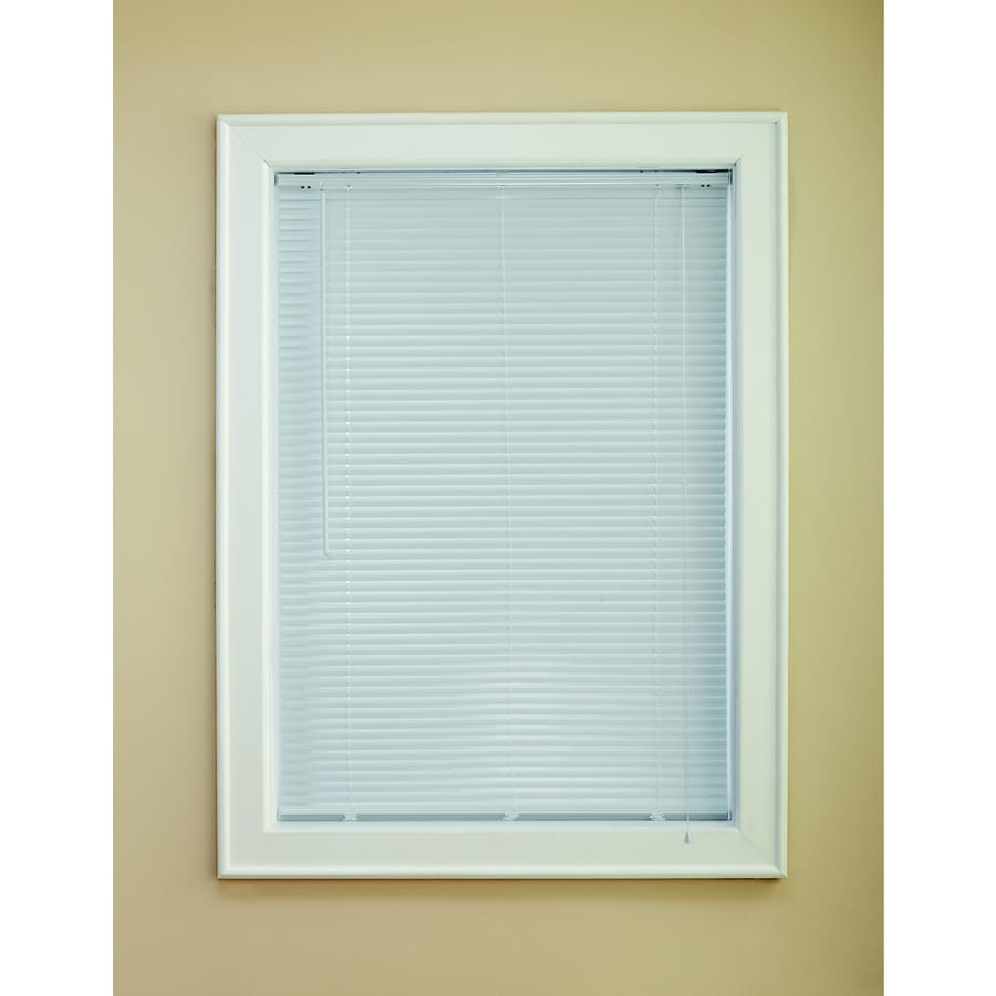 Custom Size Now by Levolor 1-in White Aluminum Room Darkening Mini-Blinds (Common 58-in; Actual: 57.5-in x 64-in)