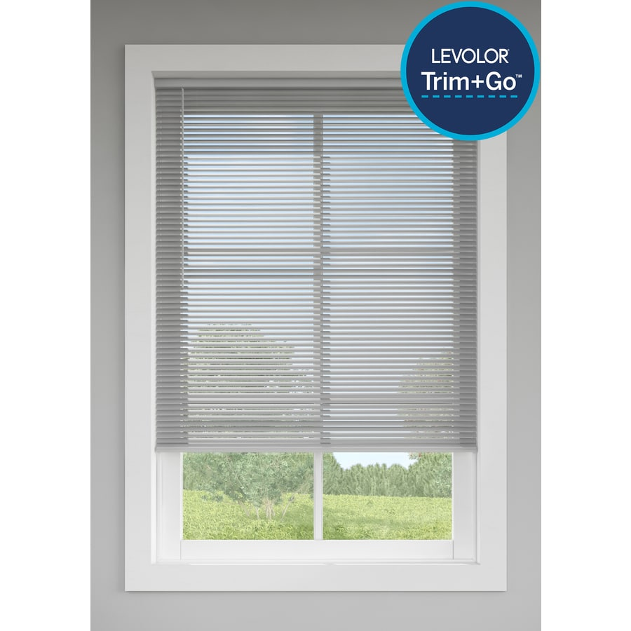 levolor mini blinds faux wood levolor 1in cordless nickel aluminum mini blinds common 23in shop 23