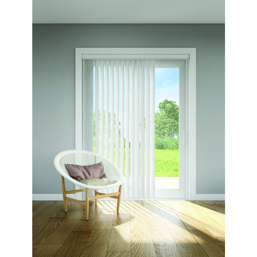 Levolor 13 Pack 3 5 In Crown White Plastic Vertical Vanes