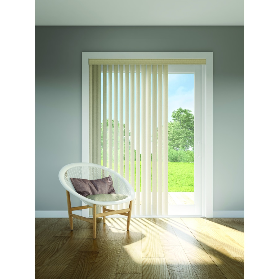 Custom Size Now by Levolor 3.5-in Cordless Stone Vinyl Room Darkening Door Blinds Vertical Blinds (Common 3.5-in; Actual: 3.5-in x 100.0-in)