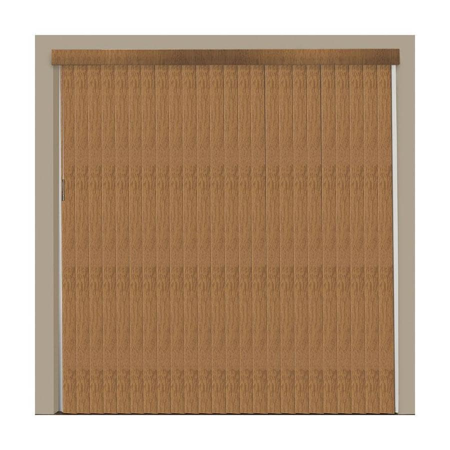 Shop Levolor 13 Piece Brown Faux Wood Vertical Blind Vanes