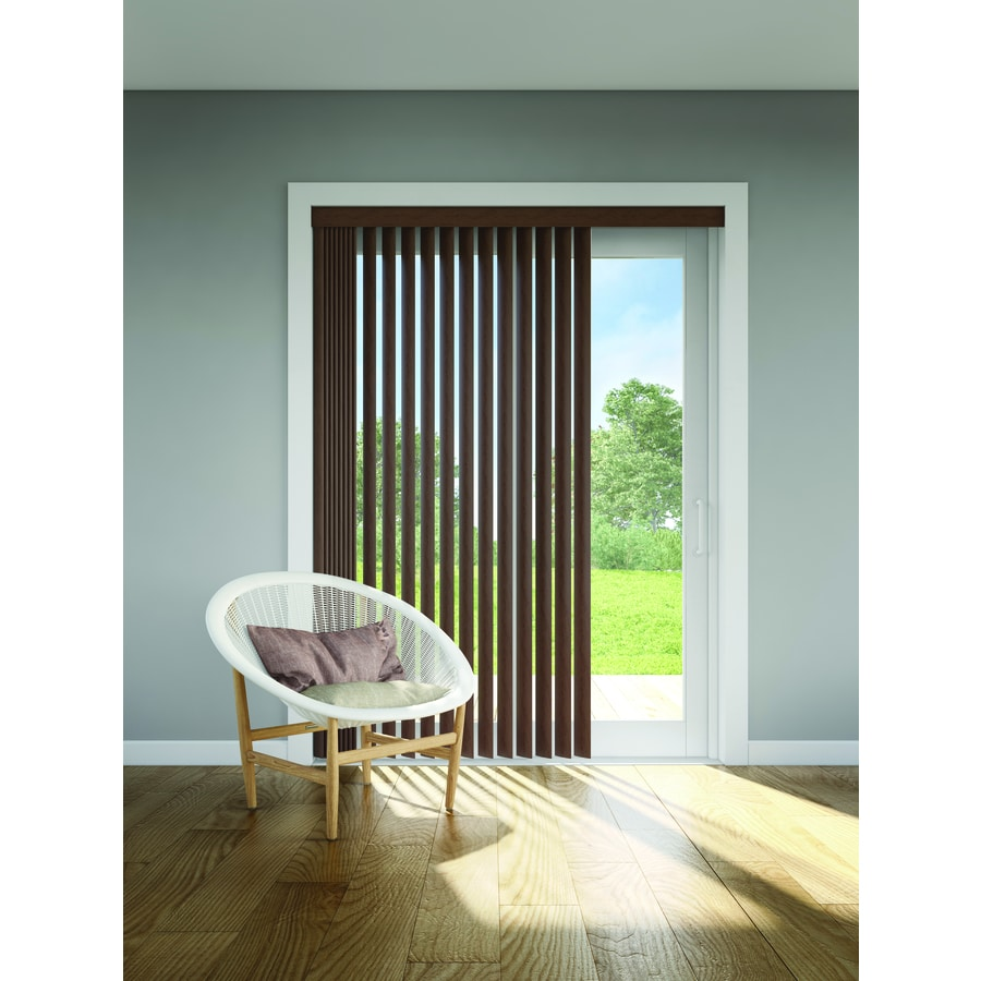 LEVOLOR 13-Piece Brown Faux Wood Vertical Headrail Vanes  sc 1 st  Loweu0027s & Shop LEVOLOR 13-Piece Brown Faux Wood Vertical Headrail Vanes at ...
