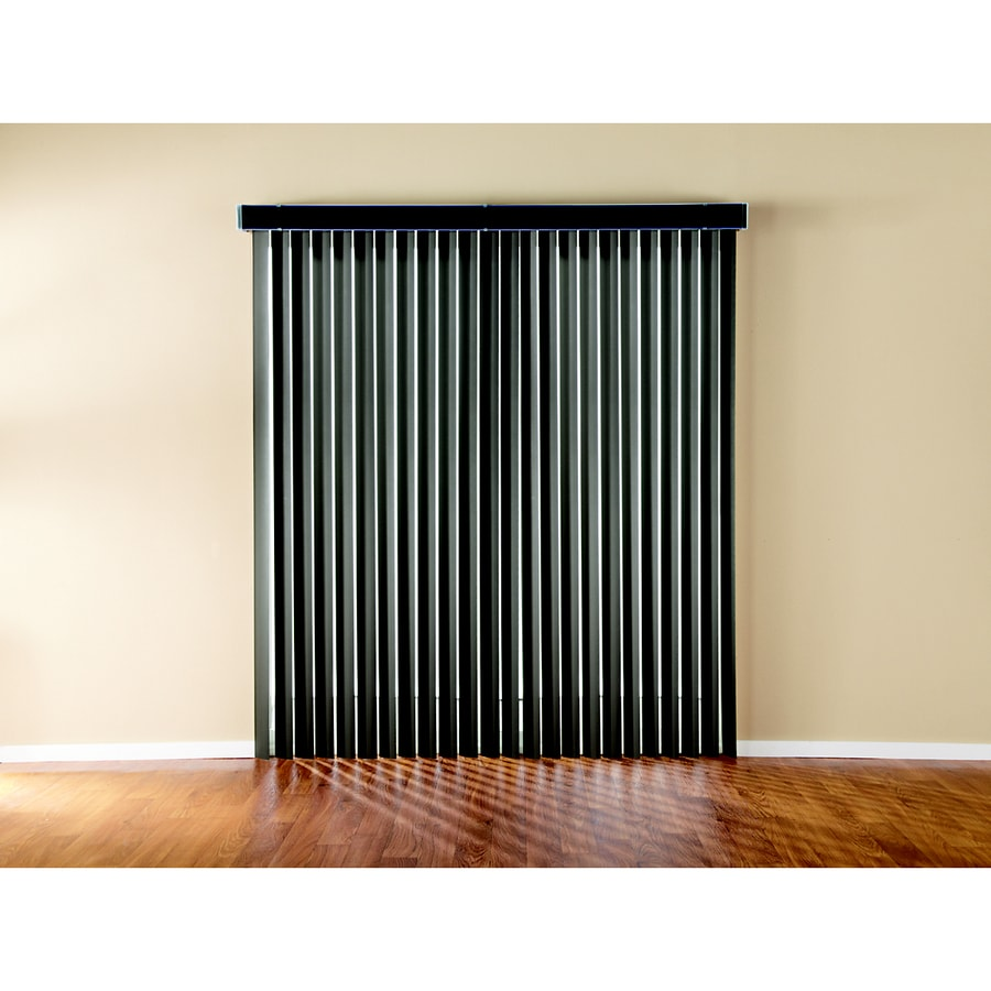 Custom Size Now by Levolor Espresso Vinyl Vertical Blinds