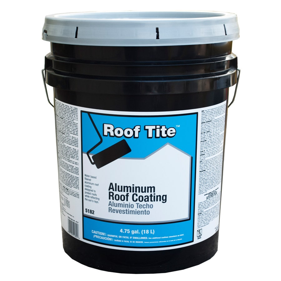 Roof Tite 4.75 Gallon Aluminum Reflective Roof Coating (1 Year Limited  Warranty)