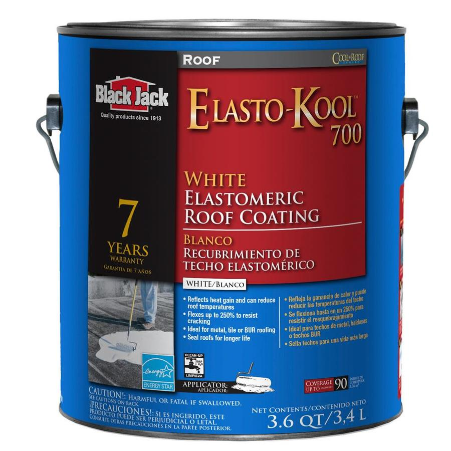 BLACK JACK 3.6-Quart Elastomeric Reflective Roof Coating (7-Year Limited Warranty)