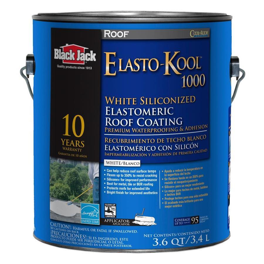 BLACK JACK 3.6-Quart Elastomeric Reflective Roof Coating (10-Year Limited Warranty)