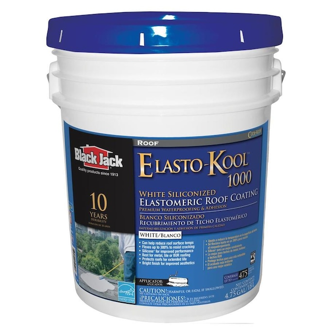 Black Jack Elasto Kool 1000 5 Gallon Elastomeric Reflective Roof Coating 10 Year Limited Warranty In The Reflective Roof Coatings Department At Lowes Com