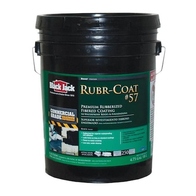 BLACK JACK Rubr-Coat 4 75-Gallon Fibered Roof Sealant at