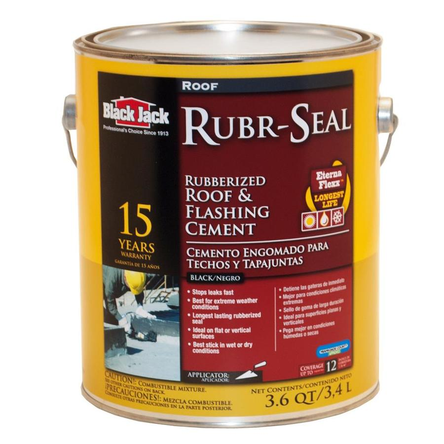 Black Jack 3 6 Quart Waterproofer Cement Roof Sealant At